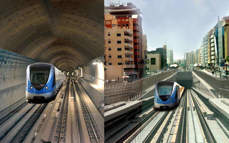 Around 5.9 million people travelled on Dubai Metro during September. (SUPPLIED)
