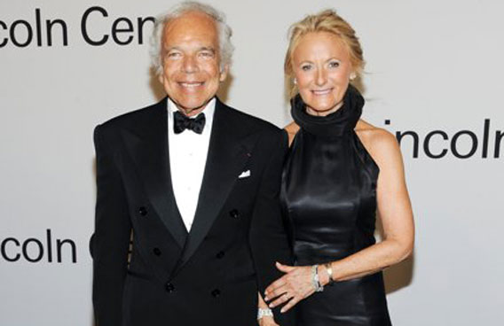 Fashion designer Ralph Lauren, left, and wife Ricky Lauren attend \u0026quot;Lincoln Center Presents: An Evening With Ralph Lauren\u0026quot; at Alice Tully Hall. (AP)