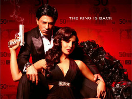 Shah Rukh Khan and Priyanka Chopra in the poster of 'Don 2'. (Pic: courtesy twitter)