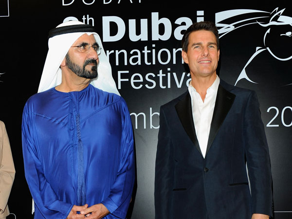 "His Highness Sheikh Mohammed bin Rashid Al Maktoum, Vice-President and Prime Minister of the UAE and Ruler of Dubai attends the ""Mission: Impossible - Ghost Protocol"" Premiere. (GETTY)"