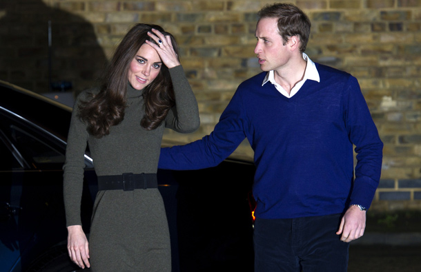 Catherine, Duchess of Cambridge and Prince William (AFP)