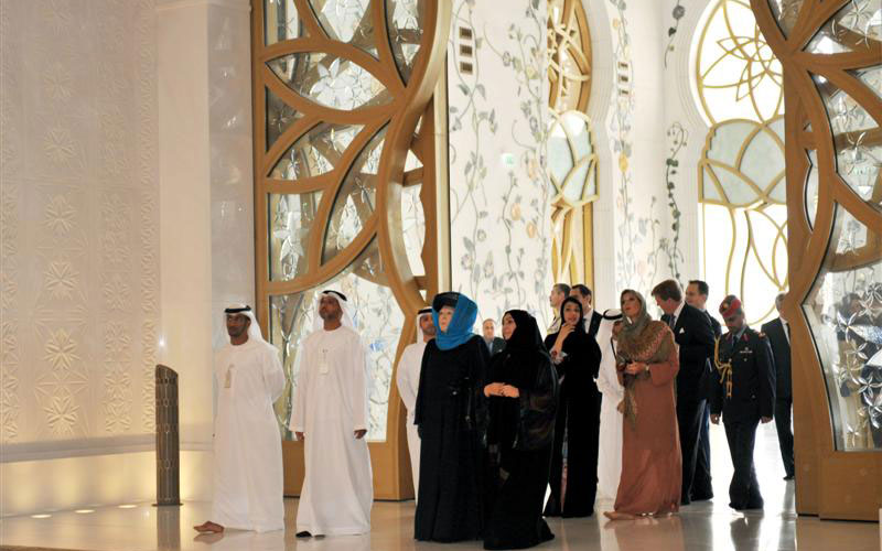 The Zayed Grand Mosque visit (WAM)