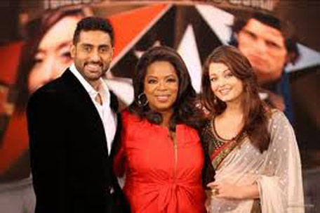 Abhishek Bachchan and Aishwarya together in Oprah Winfrey show in September 2009. (FILE)
