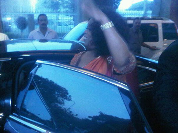 Oprah Winfrey on her maiden visit to India. (Pic: Rashma Shetty, Emirates 24|7 reader)
