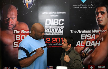 Bob Sapp (left) and Eisa Al Dah to feature at the Dubai International Boxing Championships on February 2. (SUPPLIED)