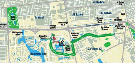 Dubai Marathon map 10km