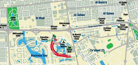 Dubai Marathon map 3km