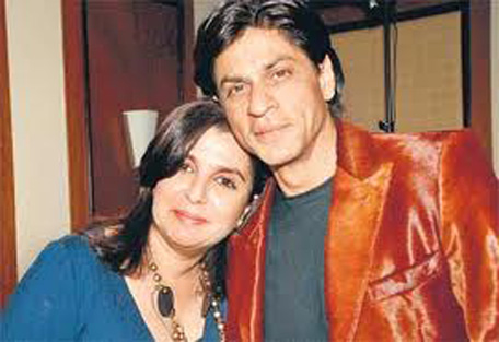(FILE) Shah Rukh Khan and Farah Khan during good times. (SUPPLIES)