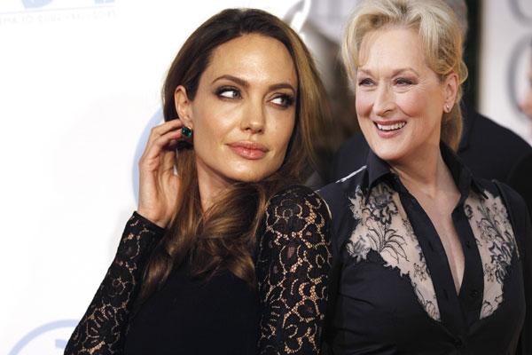 Angelina Jolie and Meryl Streep. (REUTERS)