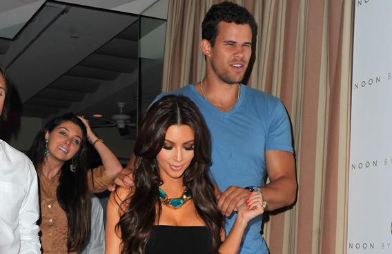 Kris Humphries and Kim Kardashian (GETTY/GALLO)