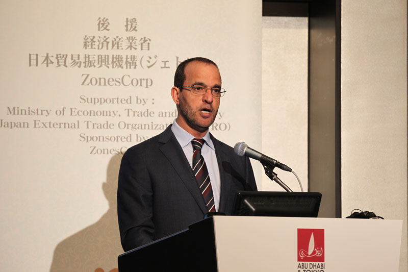 Nasser Ahmad Al Sowaidi, Chairman of the Abu Dhabi Department of Economic Development (DED), speaking in Tokyo.