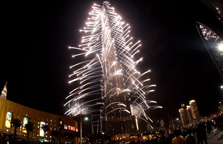 Developer Emaar promises a stunning six-part firework, laser and light show that will light up Downtown Dubai.(Osama Abughanim)