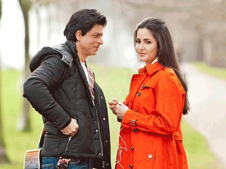 Bollywood actor Shah Rukh Khan and Katrina Kaif during a shoot in London. (SUPPLIED: Yash Raj Films)