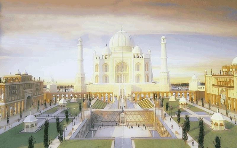 Artist's impression of the proposed Taj Arabia in Falcon City of Wonders in Dubai (SUPPLIED)