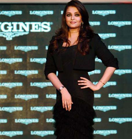 Aishwarya Rai Bachchan walked for watch brand Longine. (AFP)