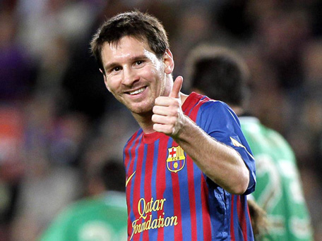 Lionel Messi's girlfriend  Antonella Rocuzzo gave birth to a baby boy, the Barcelona star's first child, on Friday. (FACEBOOK)
