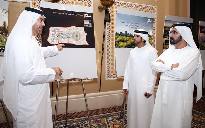 "Sheikh Mohammed, Sheikh Hamdan bin Mohammed listen to briefing on ""Mohammed Bin Rashid City"" project (Wam)"