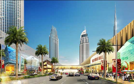 Emaar to expand dubai mall launch new projects in downtown an artists rendering of the dubai mall expansion supplied sciox Choice Image