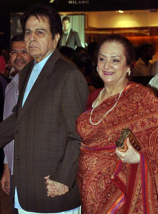 Bollywood actor Dilip Kumar and his wife Saira Banu (AFP)