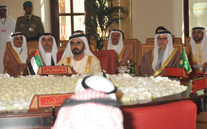 Sheikh Mohammed attending the GCC summit in Bahrain (Wam)