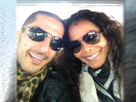 American singer Janet Jackson with Qatari billionaire Wissam Al Mana celebrating her birthday in May. (Twitter)