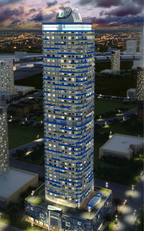The estimated price of the penthouse in 50-storey Burjside Boulevard is Dh40 to Dh42 million, according to real estate agents (SUPPLIED)