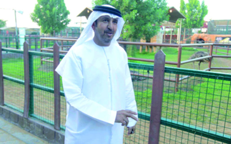Major-General Nassir Saif Al Nuaimi, Scretary-General of the Interior Minister's office, won the award for December for his contribution to animal protection and the establishment of a project offering knowledge and entertainment, particularly for children (SUPPLIED)