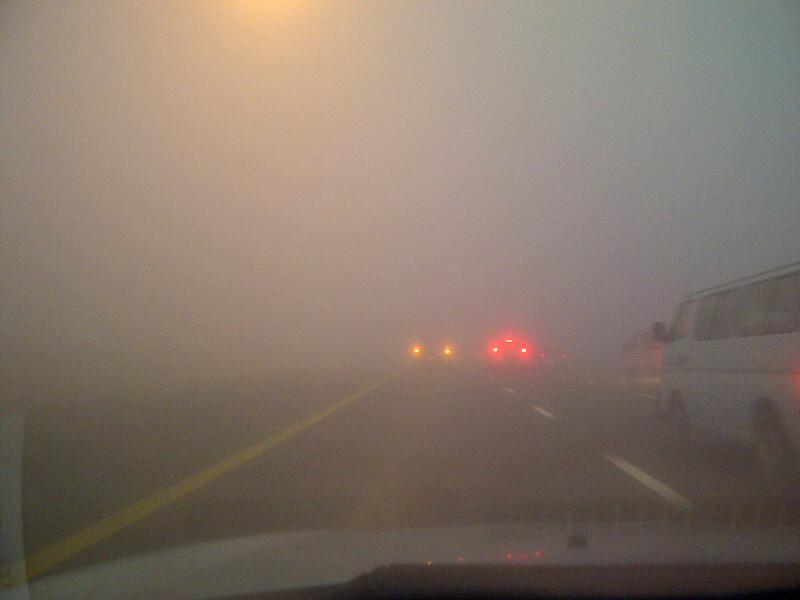 UAE wakes up to foggy morning. (Image courtesy, Juju Mathew, Emirates 24|7 reader)