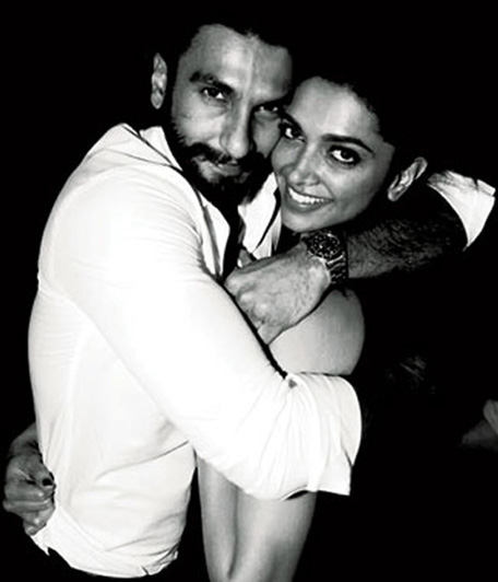 Bollywood actor Ranveer Singh and Deepika Padukone caught on camera partying in Dubai. (Twitter)