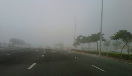 Fog clearing up slowly in Dubai on Friday morning. (Emirates 24|7 Reader's image)