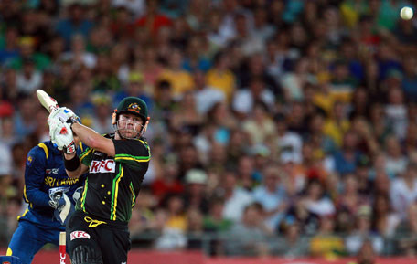 David Warner of Australia bats during game one of the Twenty20 international against Sri Lanka at ANZ Stadium on January 26, 2013 in Sydney, Australia. (GETTY)