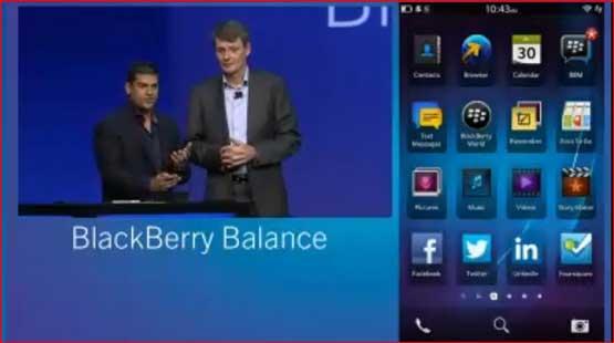 BlackBerry Balance feature