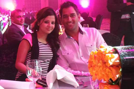 Indian cricket captain MS Dhoni in Dubai at the launch of new fragrance (SUPPLIED)