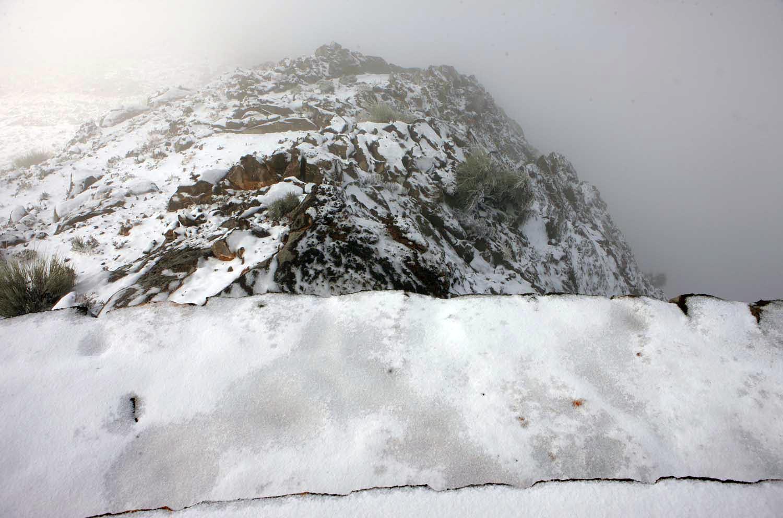 Snow settles on Jebel Jais mountain in Ras al Khaimah in 2009. (FILE Image)