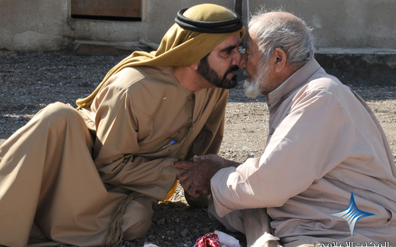 Sheikh Mohammed frequently meets citizens to inquire about their well-being and how to help enhance their standard of living.