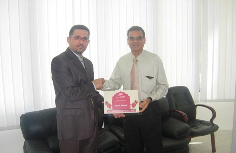 Rajesh Parekh, Air India's area sales manager in Abu Dhabi, is seen at right in a file photo.