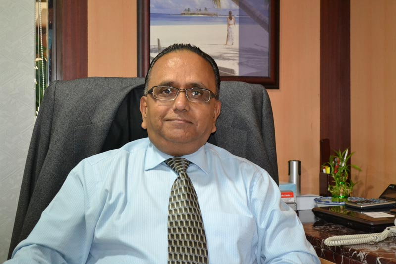 Krishna Swamy, the Dubai branch manager of Akbar Travels, who died on Saturday night.