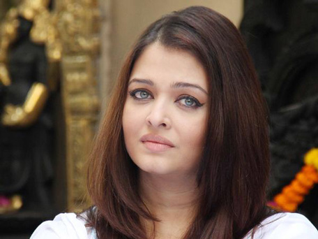 Bollywood actress and former Miss World Aishwarya Rai Bachchan during a press conference in Mumbai on February 9, 2013. The actress pledged to donate the proceeds of a book to the Plan India charity organisation, which supports the protection and rights of newborn girls in the country. (AFP)