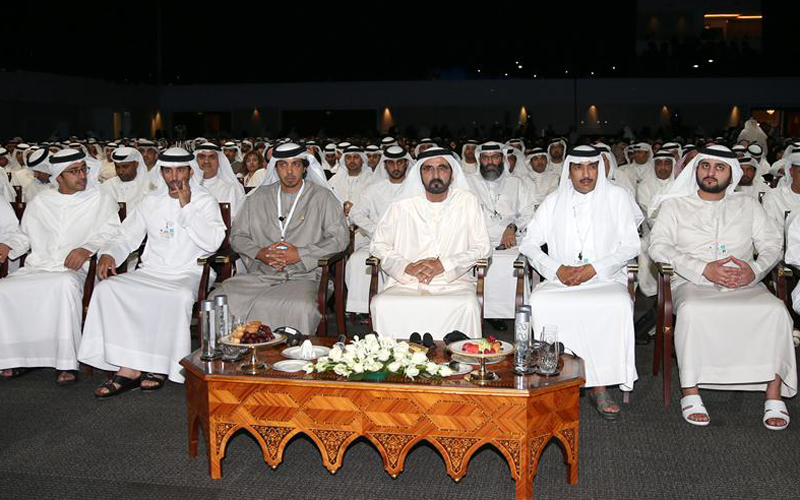 His Highness Sheikh Mohammed bin Rashid Al Maktoum attends second day activities of First Government Summit in Dubai today  (Wam)