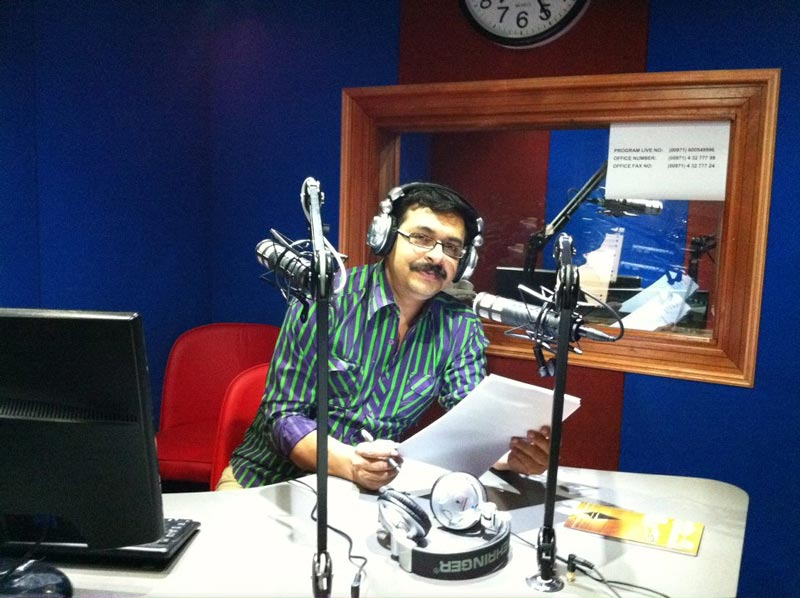 Reji Mannil, RJ of Voice of Kerala AM radio station.