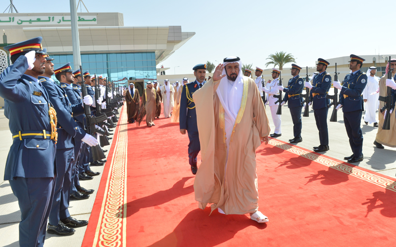 President His Highness Sheikh Khalifa bin Zayed Al Nahyan leaves for Turkmenistan. (Wam)