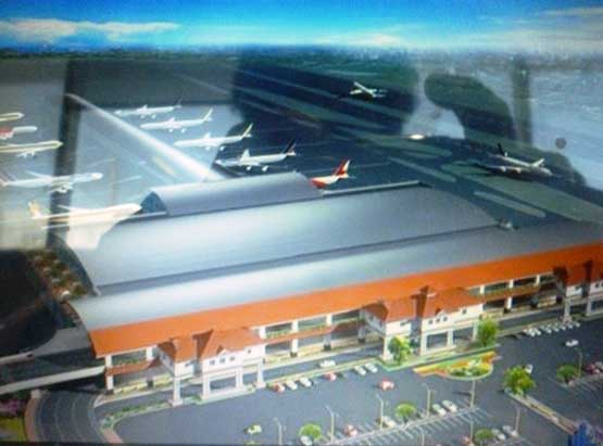 An artist's impression of the proposed new Kochi airport (SUPPLIED)