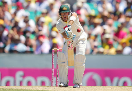 Michael Clarke of Australia bats during day two of the third Test against Sri Lanka at Sydney Cricket Ground on January 4, 2013 in Sydney, Australia. (GETTY)