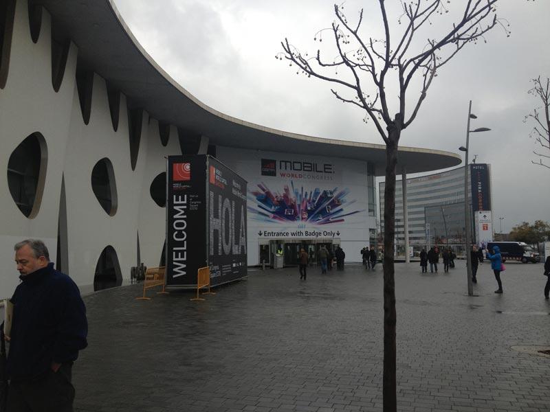 The Mobile World Congress venue on Fira Gran Via in Barcelona, Spain.