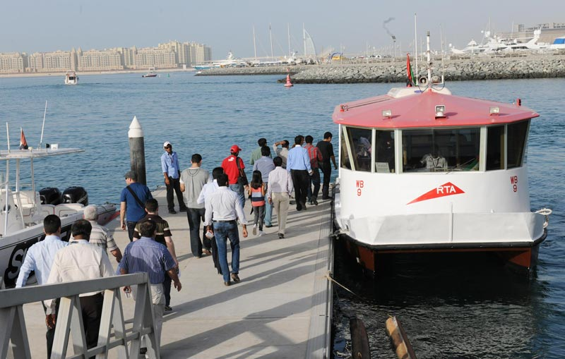 RTA recently launched a new water bus line to shuttle between the Festival City Station and Ras Al Khor Wildlife Sanctuary.