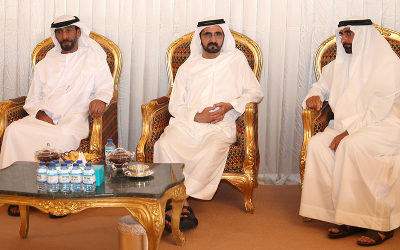 His Highness Sheikh Mohammed bin Rashid Al Maktoum pays his respects to Al Bowardi family (Wam)