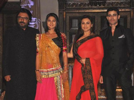 Sanjay Leela Bhansali, Jennifer Winget, Gautam Rode and Mukerji at the launch of 'Saraswatichandra'. (SUPPLIED)