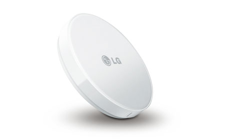 LG wireless charger. (SUPPLIED)