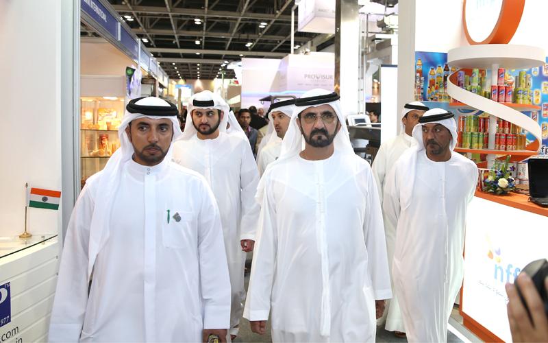 His Highness Sheikh Mohammed Bin Rashid Al Maktoum tours Gulf Food (Wam)