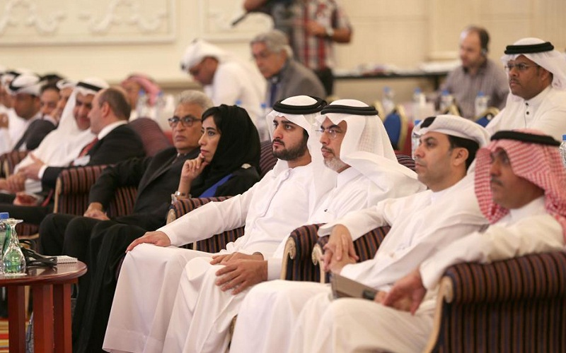 Sheikh Maktoum at the inauguration of the Wan-Ifra conference in Dubai (WAM)